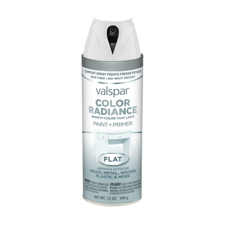 Valspar Color Radiance White Enamel Spray Paint (Actual Net Contents: 12-oz)