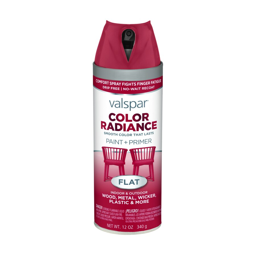 Shop Valspar Color Radiance Radiant Red Enamel Spray Paint Actual Net Contents 12 Oz At