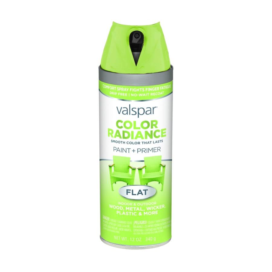 Shop Valspar Color Radiance Sonic Lime Enamel Spray Paint Actual Net Contents 12 Oz At Lowes Com
