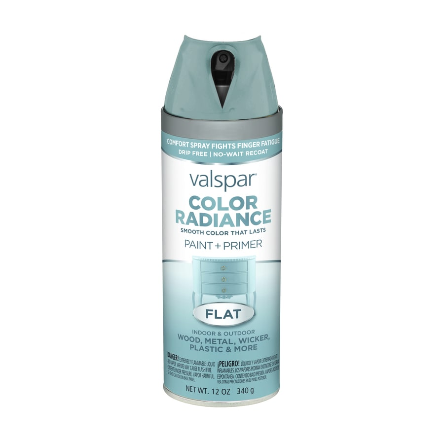 Shop Valspar Color Radiance Silver Fox Enamel Spray Paint Actual Net Contents 12 Oz At