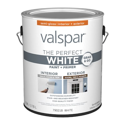 Valspar Semi-gloss Perfect White Latex Paint (Actual Net