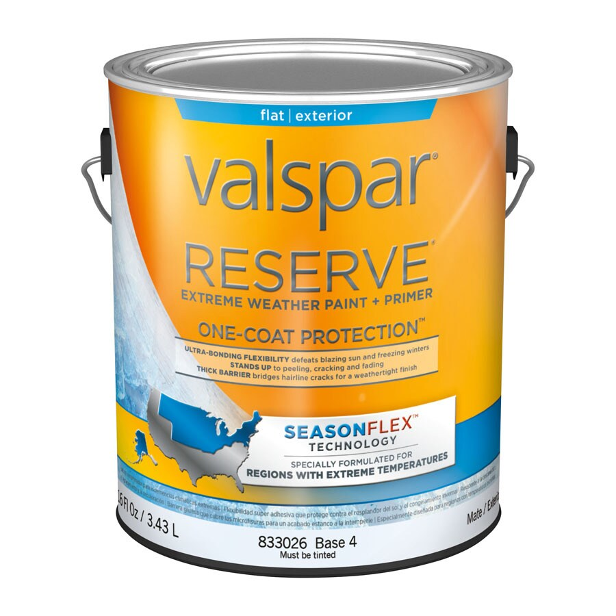 Shop Valspar Reserve Season Flex Flat Latex Exterior Paint Actual Net Contents 116 Fl Oz At