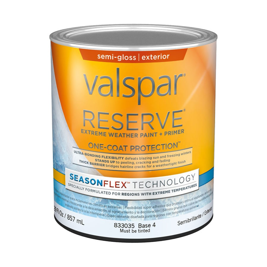 Valspar Reserve Season Flex Semi-Gloss Latex Exterior Paint (Actual Net Contents: 29-fl oz)