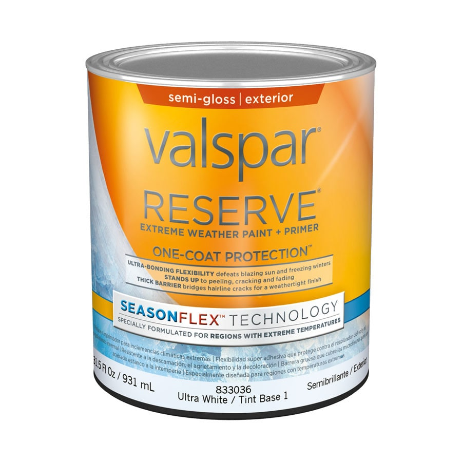 Valspar Reserve Season Flex Semi-Gloss Latex Exterior Paint (Actual Net Contents: 31.5-fl oz)