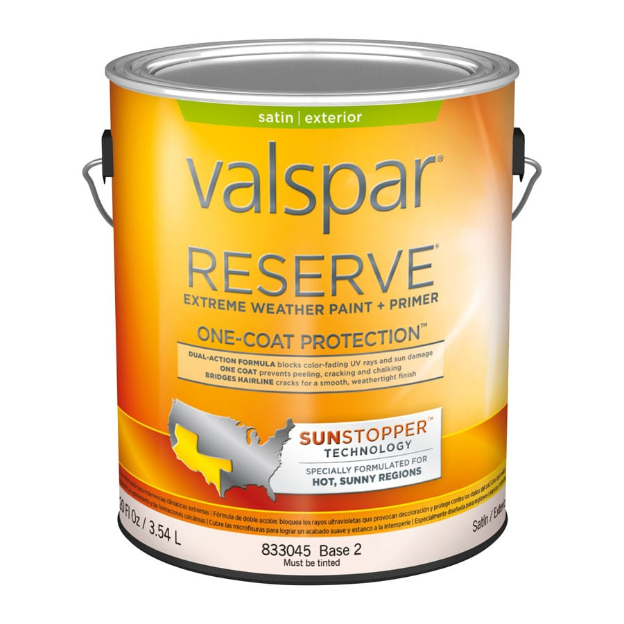 Shop Valspar Reserve Sun Stopper Satin Latex Exterior Paint Actual Net Contents 120 Fl Oz At