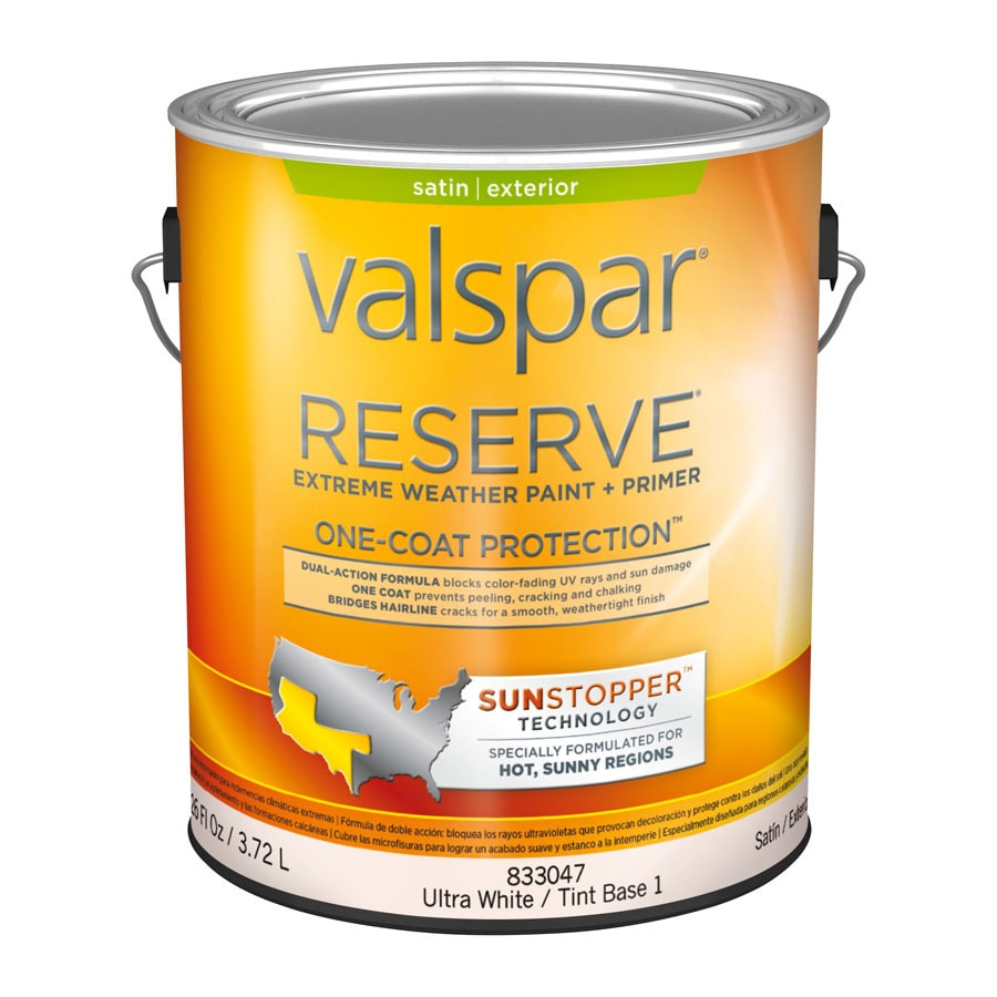 Shop Valspar Reserve Sun Stopper Satin Latex Exterior Paint Actual Net Contents 126 Fl Oz At