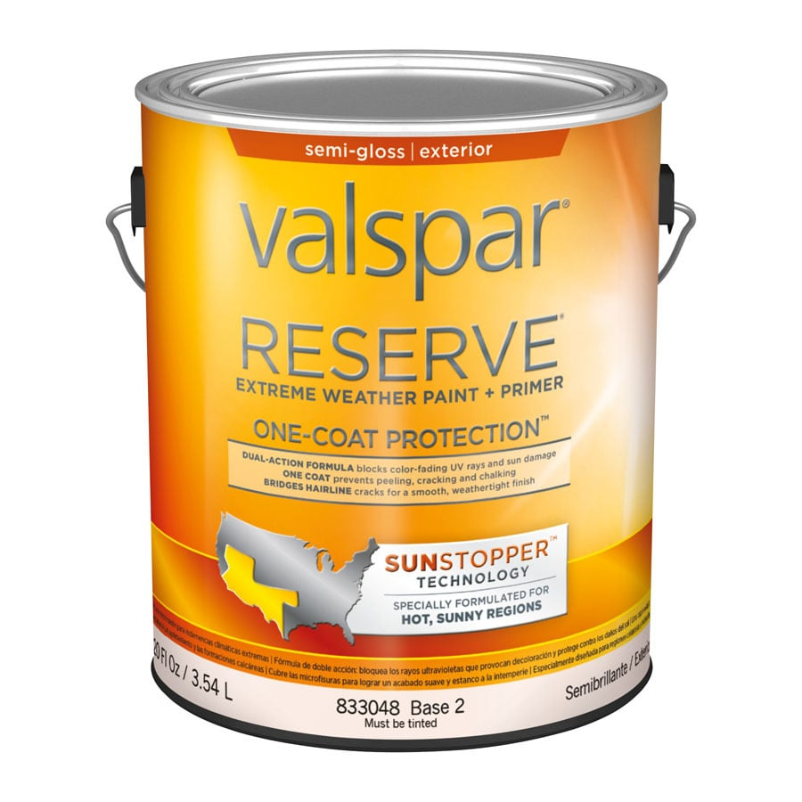 Valspar Reserve Sun Stopper Semi-Gloss Latex Exterior Paint (Actual Net Contents: 120-fl oz)