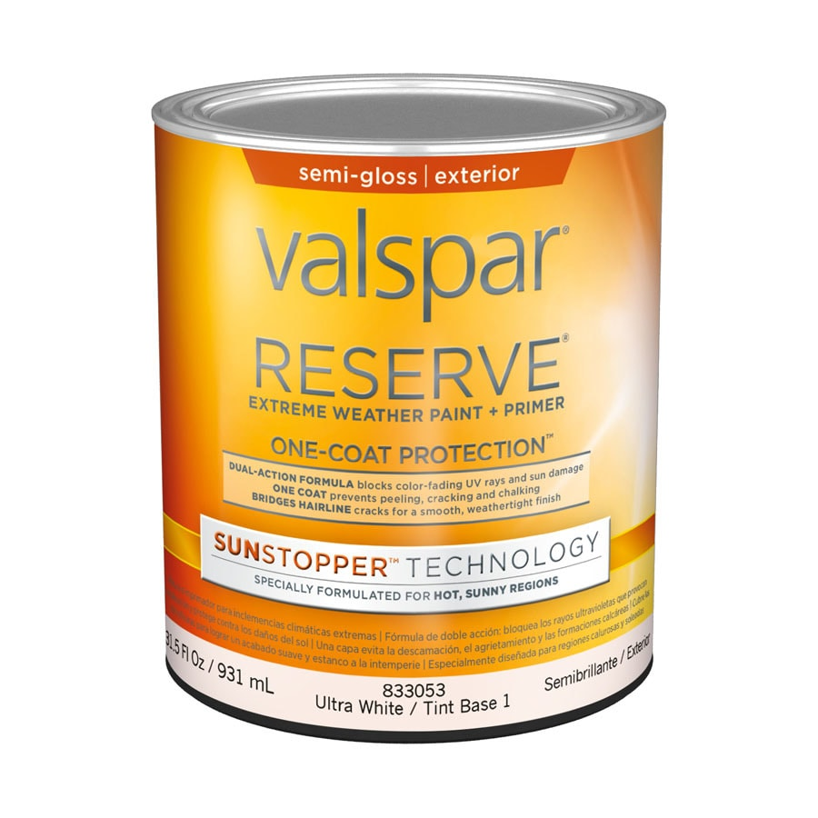 Valspar Reserve Sun Stopper Semi-Gloss Latex Exterior Paint (Actual Net Contents: 31.5-fl oz)