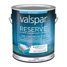 Charming Valspar Reserve Rain Relief Flat Latex Exterior Paint (Actual Net Contents:  126 Fl