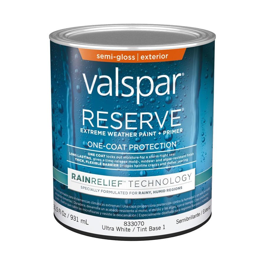 Valspar Reserve Rain Relief Semi-Gloss Latex Exterior Paint (Actual Net Contents: 31.5-fl oz)