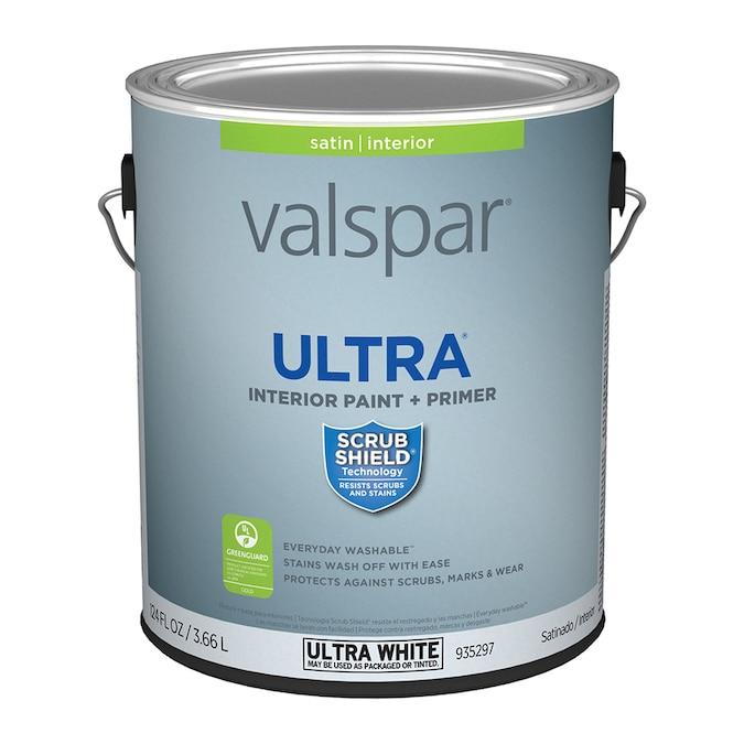 Valspar Ultra Satin Latex Interior Paint (Actual Net ...