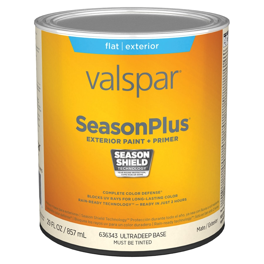 shop valspar seasonplus flat ultra deep base latex exterior paint