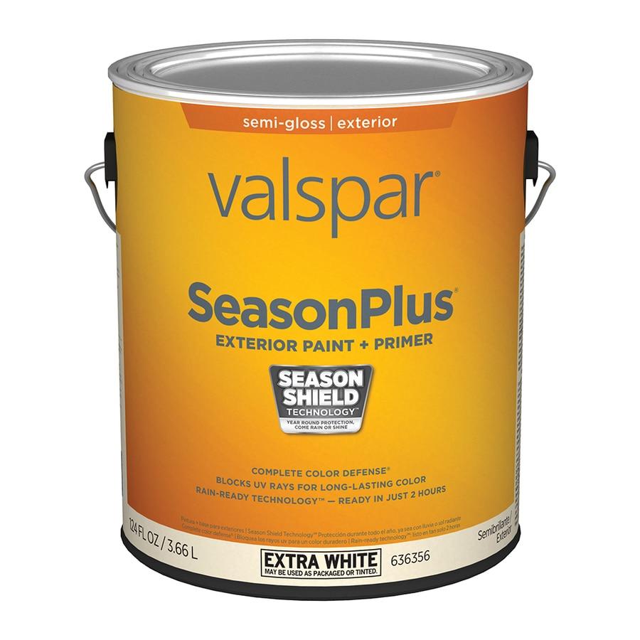Valspar Seasonplus Semi Gloss Extra White Base Latex Exterior Paint Actual Net Contents