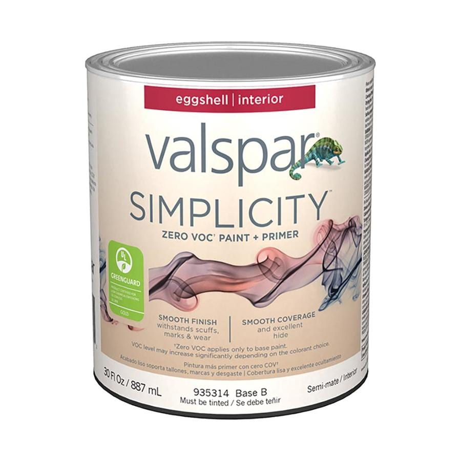 Valspar simplicity eggshell latex paint actual net - Eggshell or semi gloss ...