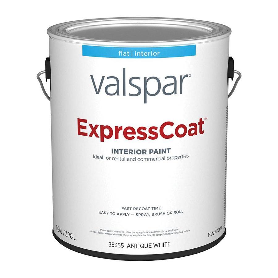 Valspar Professional Interior Paint Reviews: Valspar Pro ExpressCoat Flat Antique White Latex Paint
