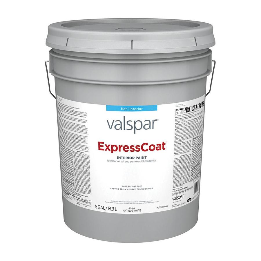 Valspar Pro Expresscoat Flat Antique White Latex Paint Actual Net Contents 640 Fl Oz