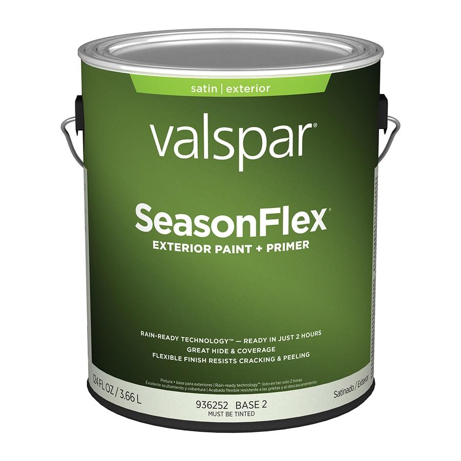 Shop Valspar Seasonflex Satin Base 2 Latex Exterior Paint Actual Net Contents 124 Fl Oz At