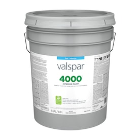 Valspar 4000 Flat High Hide White Interior Paint (5-Gallon)