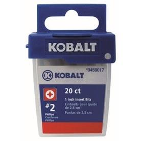 Kobalt 20-Piece 1-in #2 Phillips Shank Screwdriver Bit