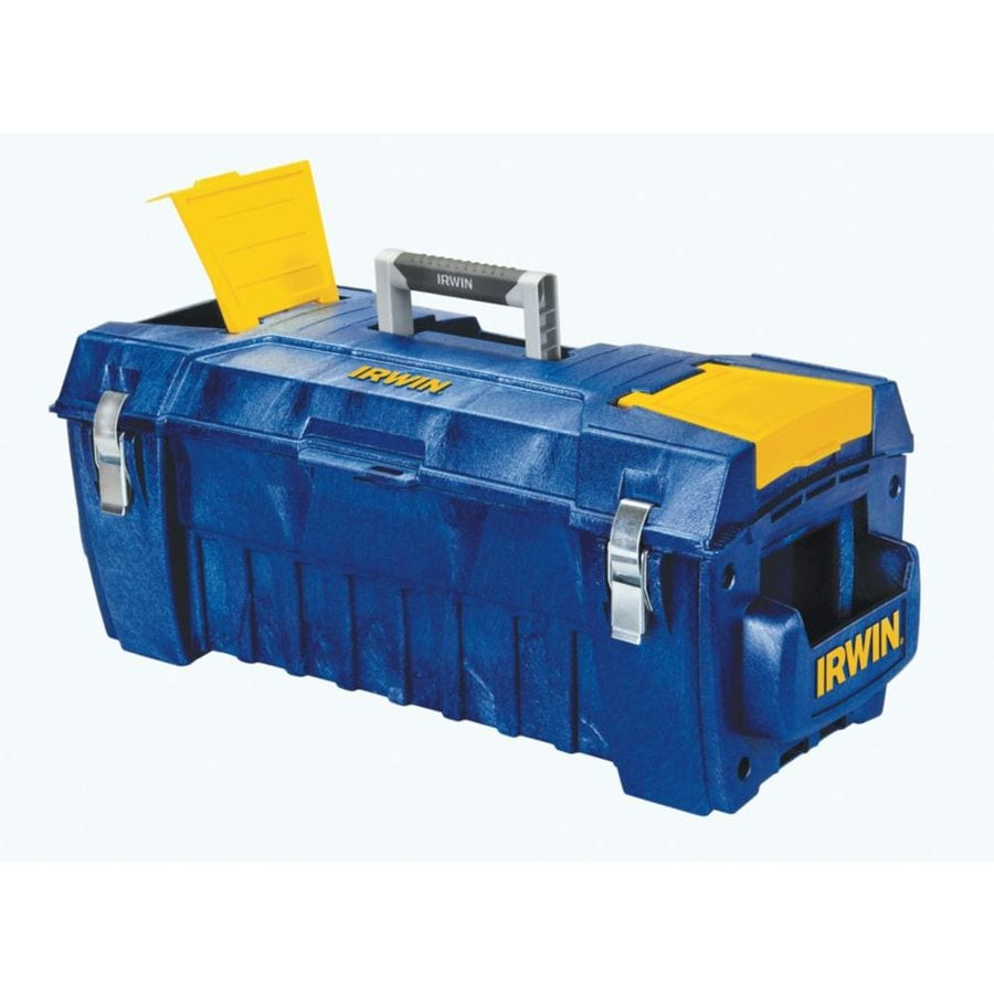 IRWIN 29-in Blue Resin Lockable Tool Box