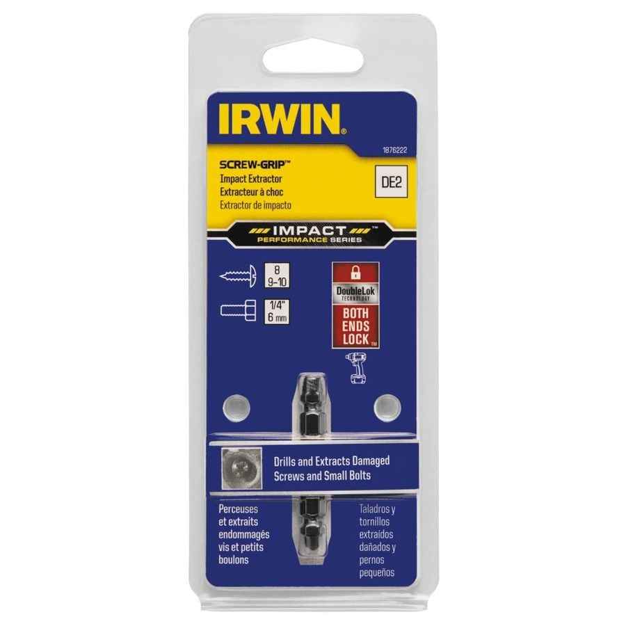 IRWIN Impact Screw-Grip De-2 Double-Ended Screw Extractor