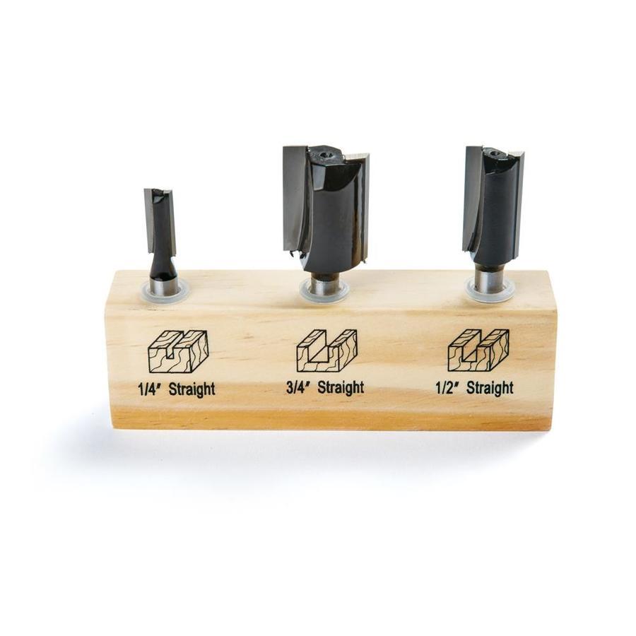 IRWIN 3-Piece Straight Router Bit Set