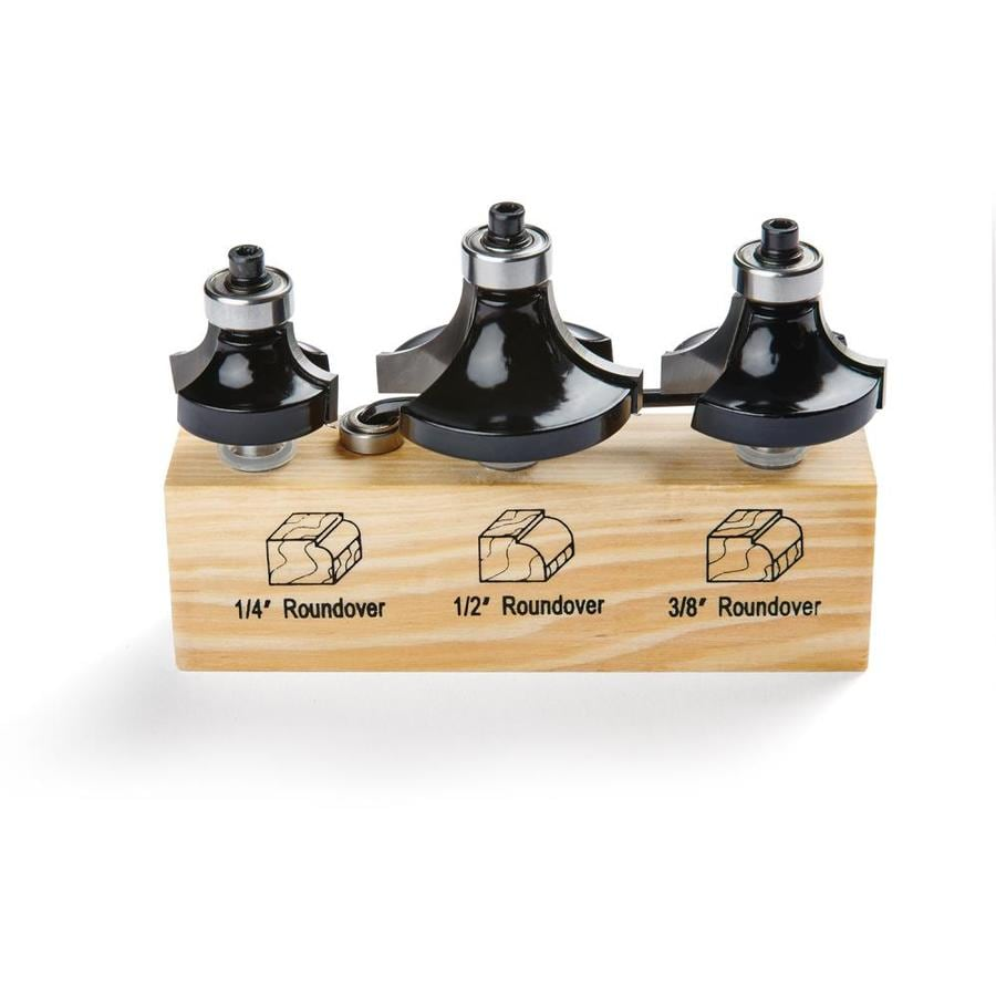 IRWIN 3 3-Pc Roundover Router Bit Set