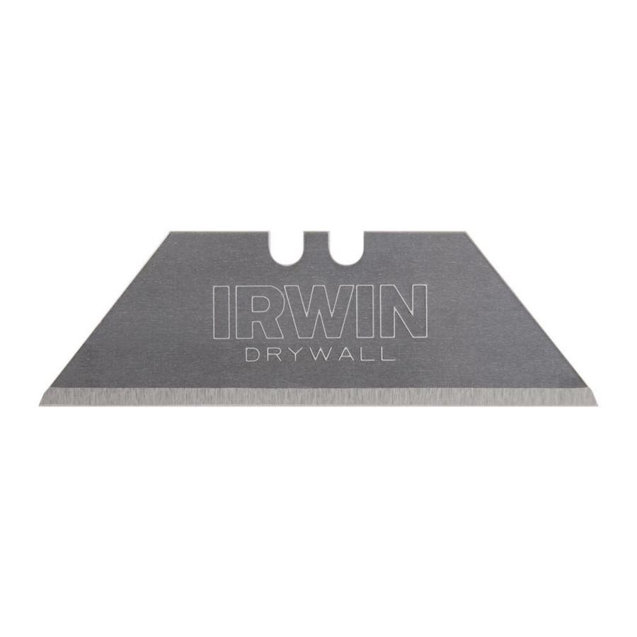 IRWIN 5-Pack 2.44-in Carbon Steel Straight Drywall Replacement Utility Blades