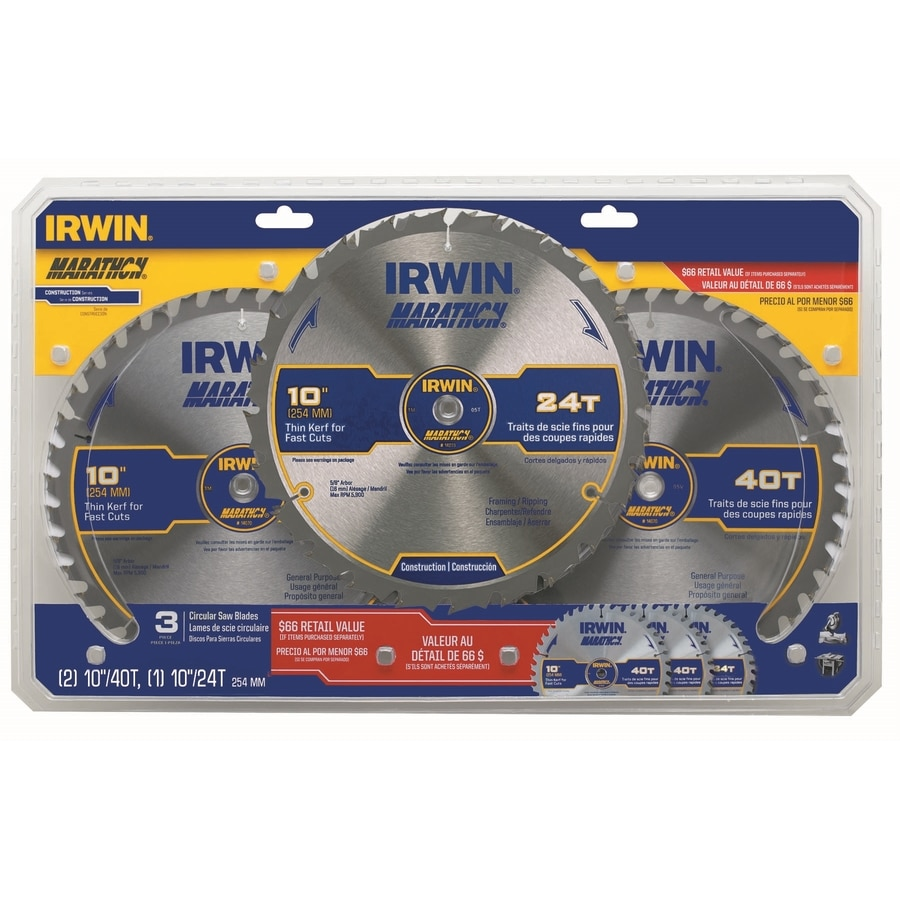 IRWIN Marathon Circular Saw Blade Set
