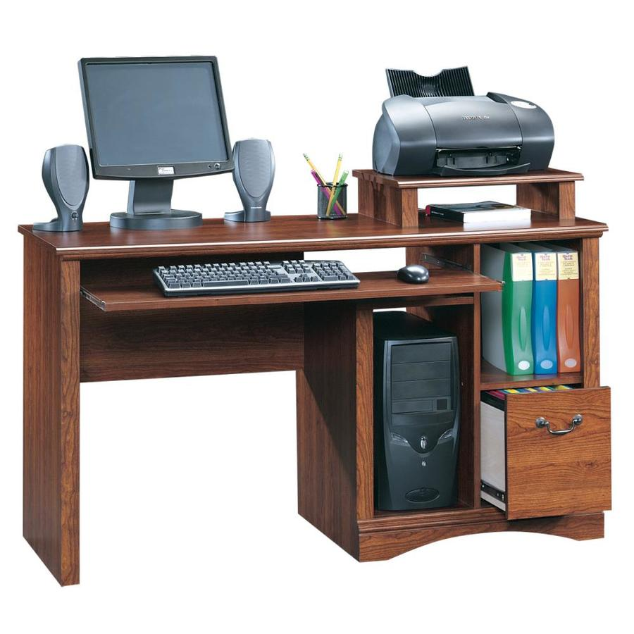 sauder camden county traditional planked cherry computer. Black Bedroom Furniture Sets. Home Design Ideas