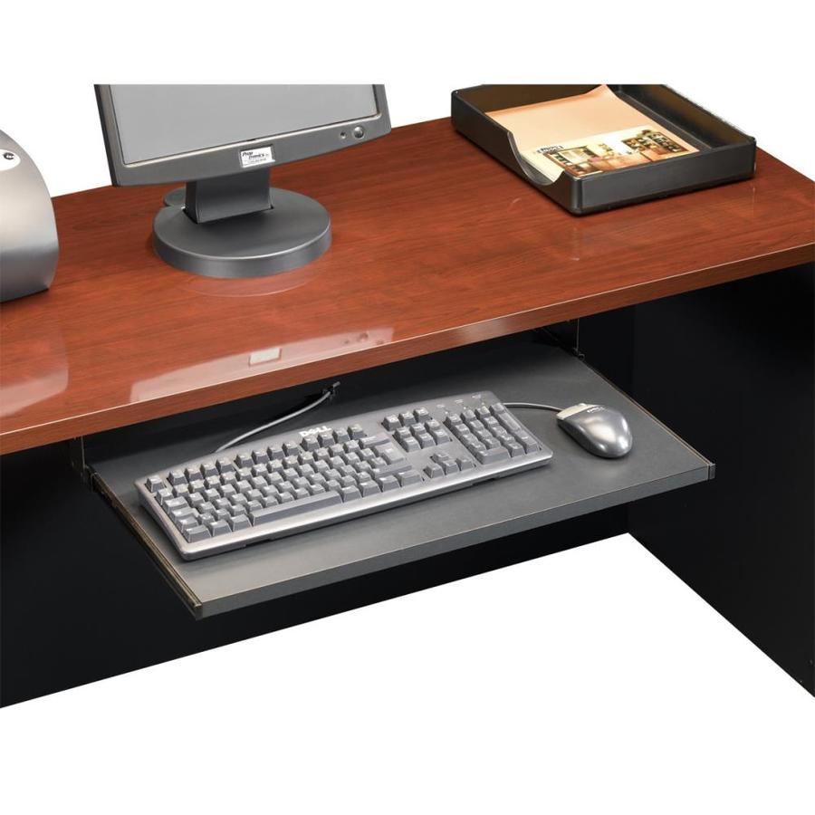 Sauder Via Soft Black Executive Desk