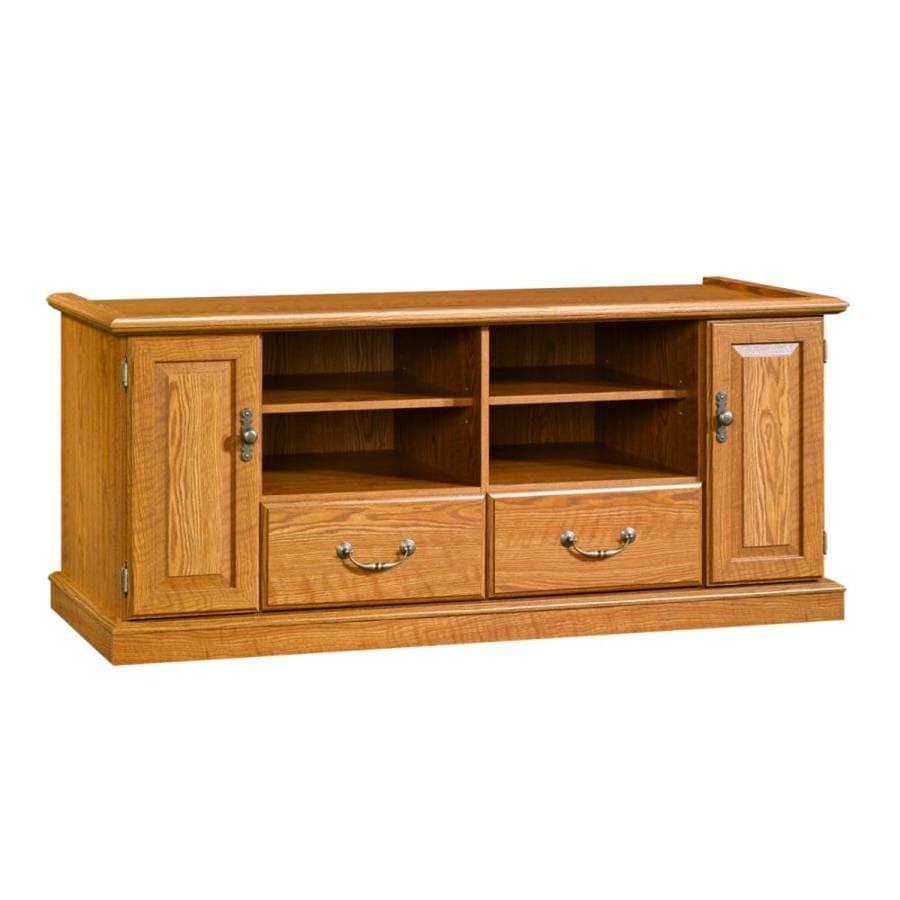Kitchen cabinets assembled - Shop Sauder Pedestal Tv Stand At Lowes Com