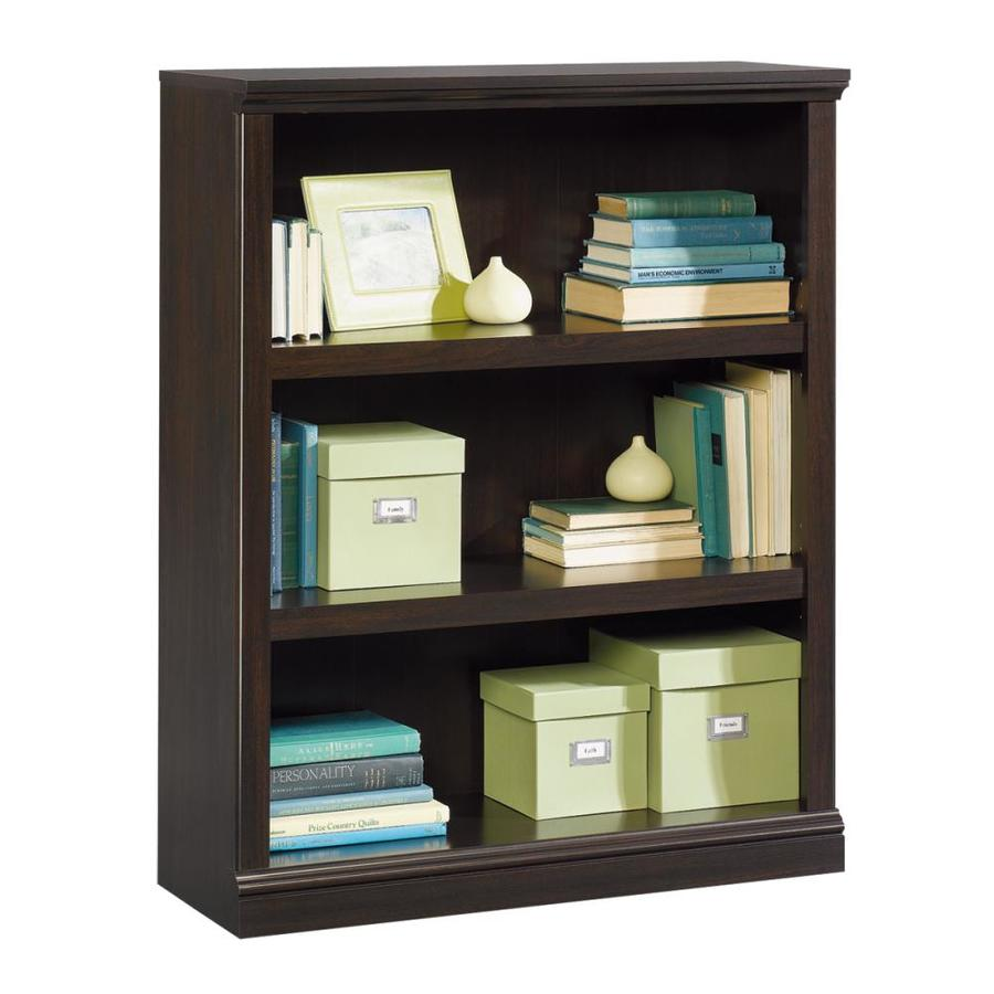Sauder Jamocha Wood 35.25-in W x 43.75-in H x 13.25-in D 3-Shelf Bookcase