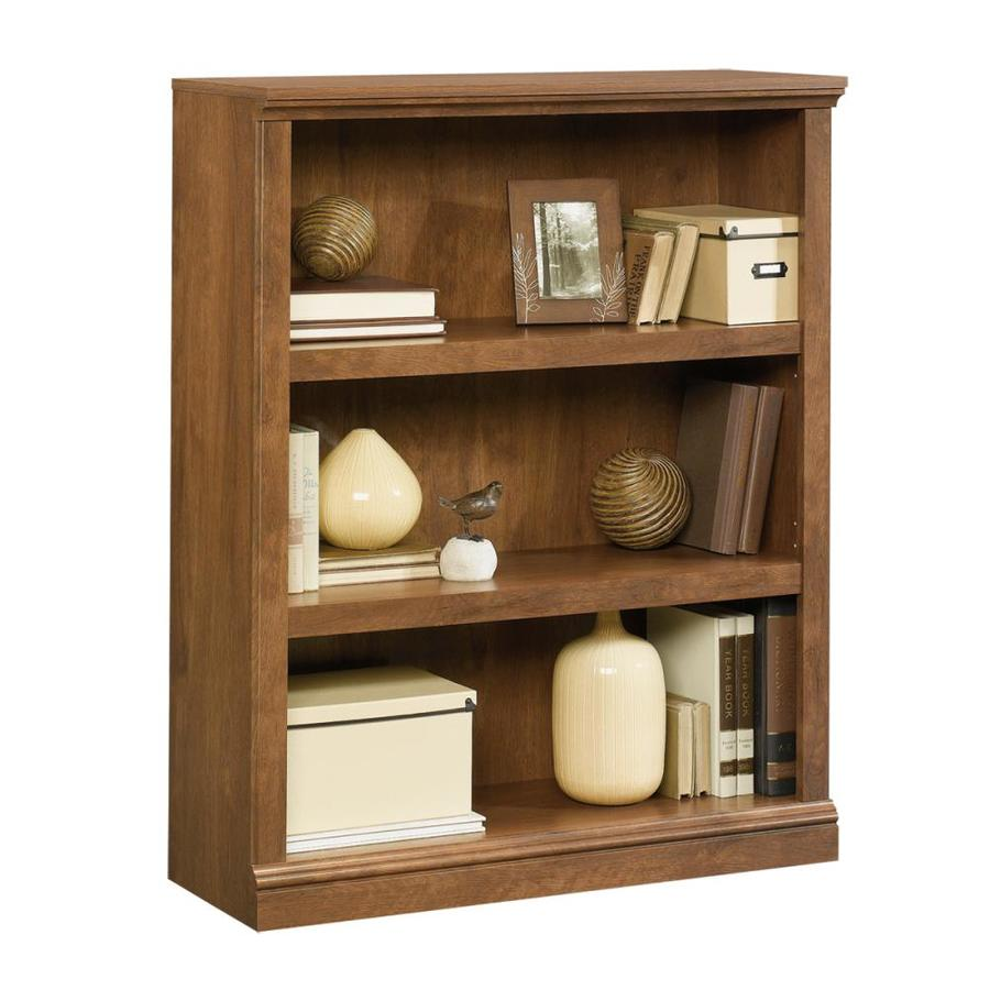 Sauder Oiled Oak 35.25-in W x 43.75-in H x 13.25-in D 3-Shelf Bookcase