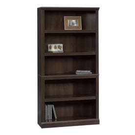Captivating Sauder Cinnamon Cherry 5 Shelf Bookcase