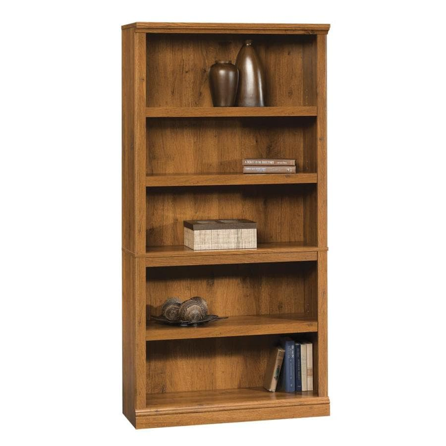 Shop Sauder Abbey Oak 5 Shelf Bookcase At Lowes Com