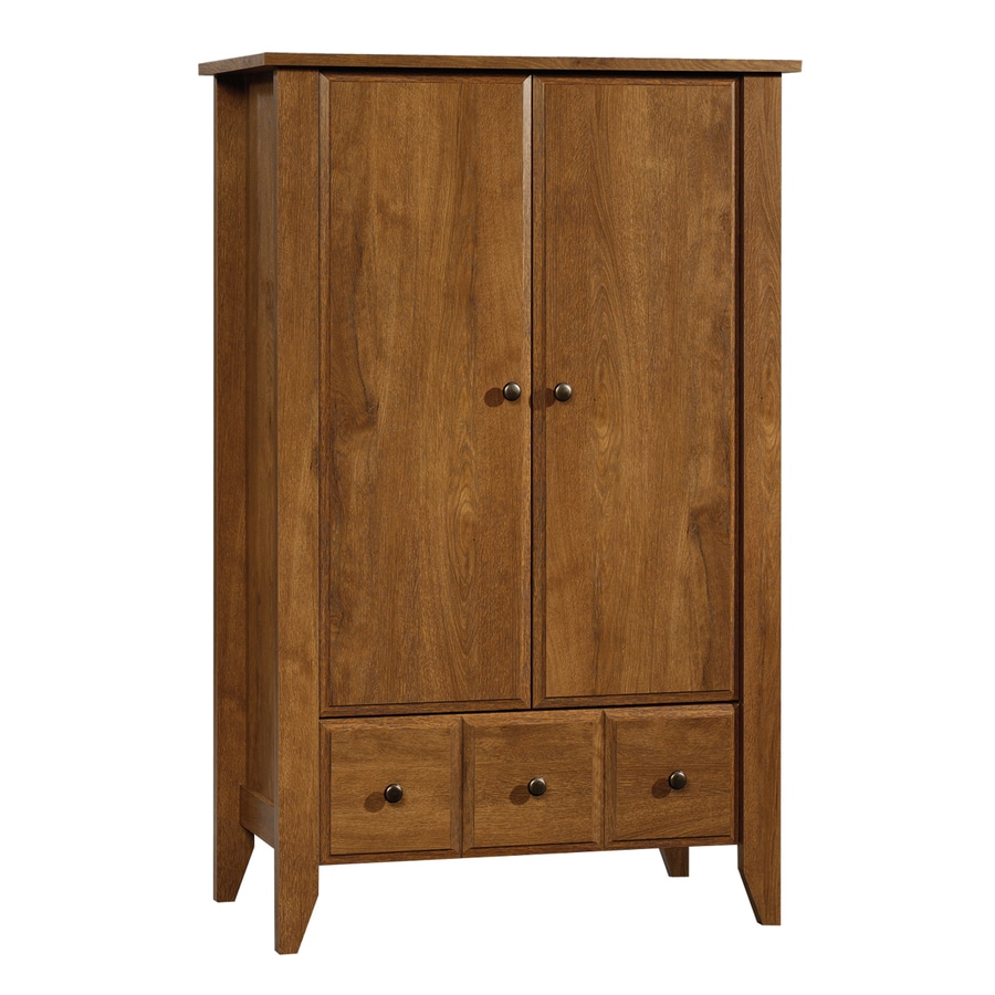 shop sauder shoal creek oiled oak armoire at. Black Bedroom Furniture Sets. Home Design Ideas