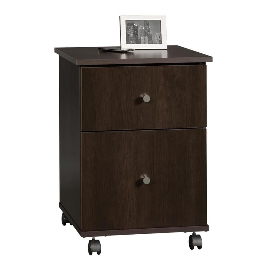 sauder storage cabinet with drawer shop sauder cinnamon cherry 2 drawer file cabinet at lowes 25865