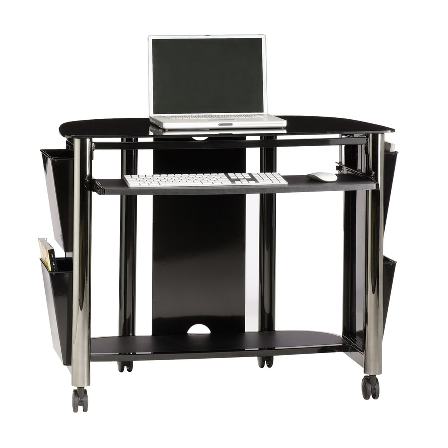 Sauder Chroma Black Chrome Gl Computer Desk