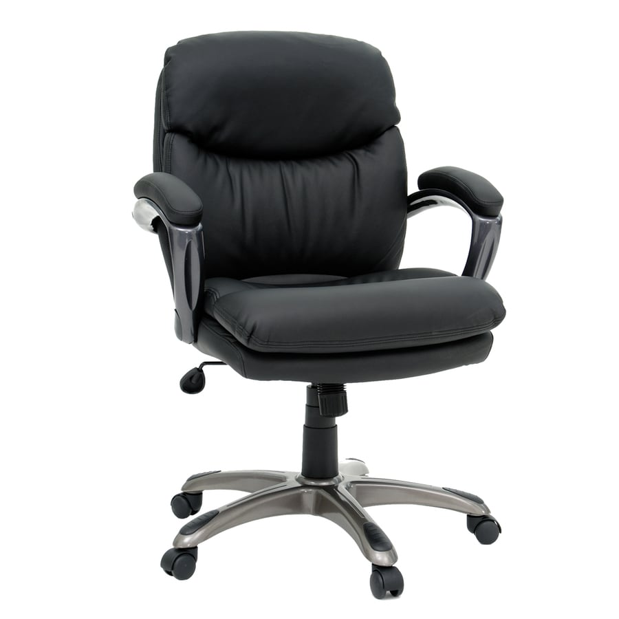 Sauder Black Vinyl Manager Office Chair