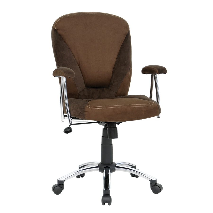 shop sauder brown microsuede task office chair at lowes com