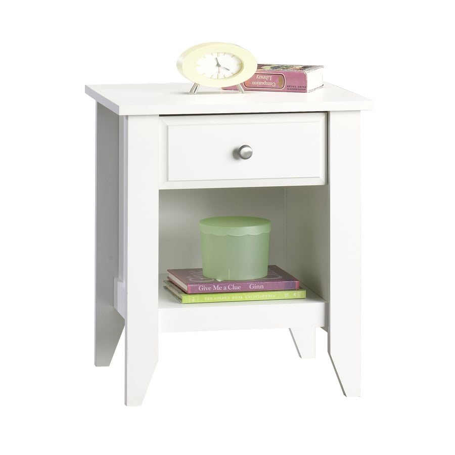 Shop Sauder Shoal Creek Soft White Nightstand at Lowes.com