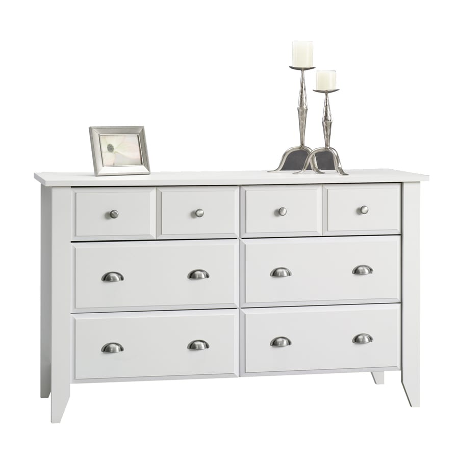 Sauder Shoal Creek Soft White 6-Drawer Dresser
