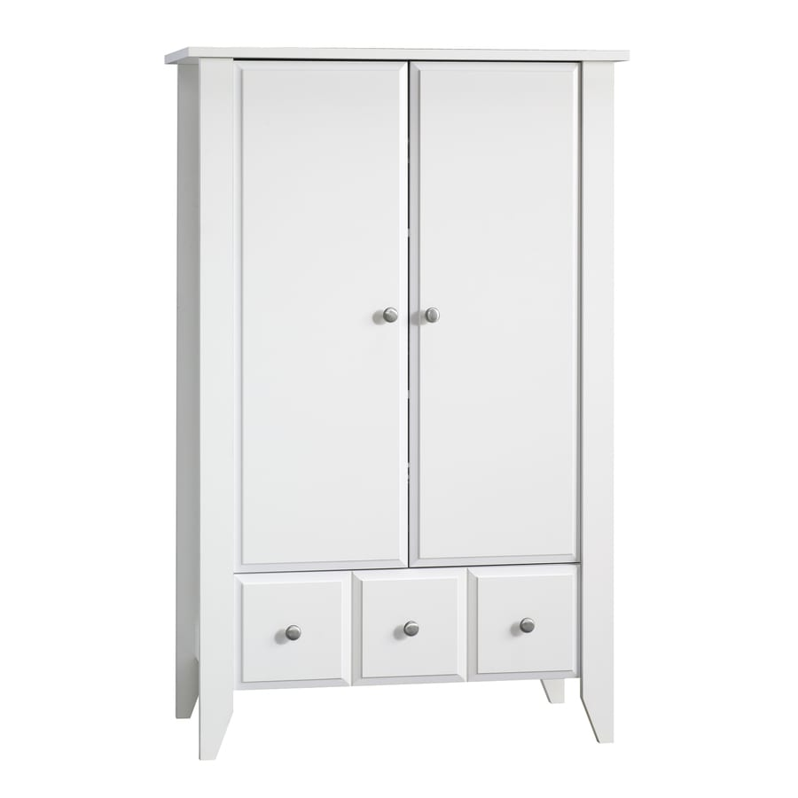 Bon Sauder Shoal Creek Soft White Armoire