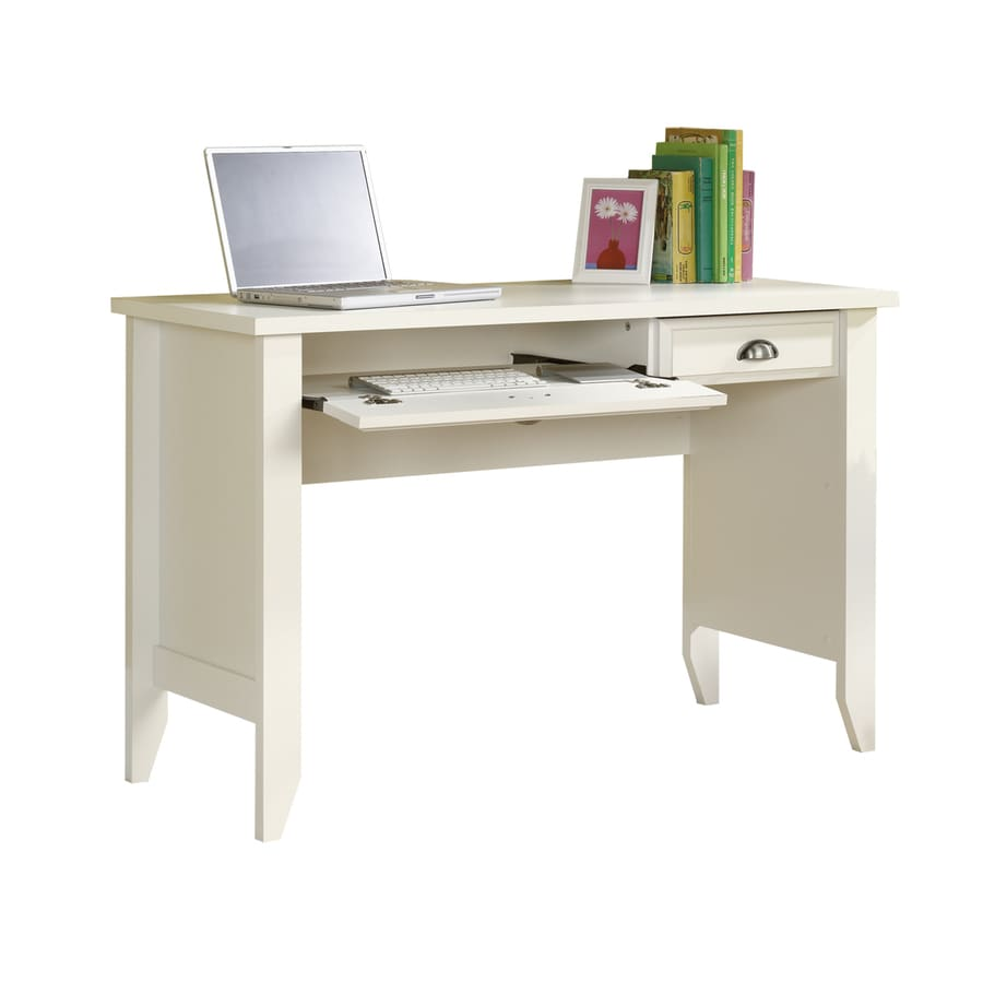 Sauder Shoal Creek Soft White Computer Desk