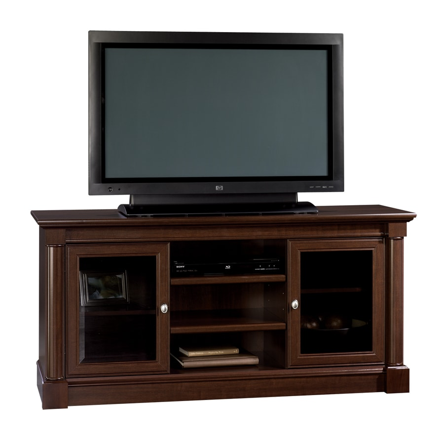 shop sauder palladia select cherry pedestal tv stand at. Black Bedroom Furniture Sets. Home Design Ideas