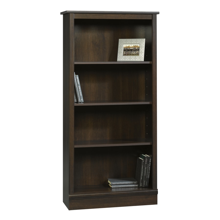 Sauder Cinnamon Cherry 59.75-in 4-Shelf Bookcase