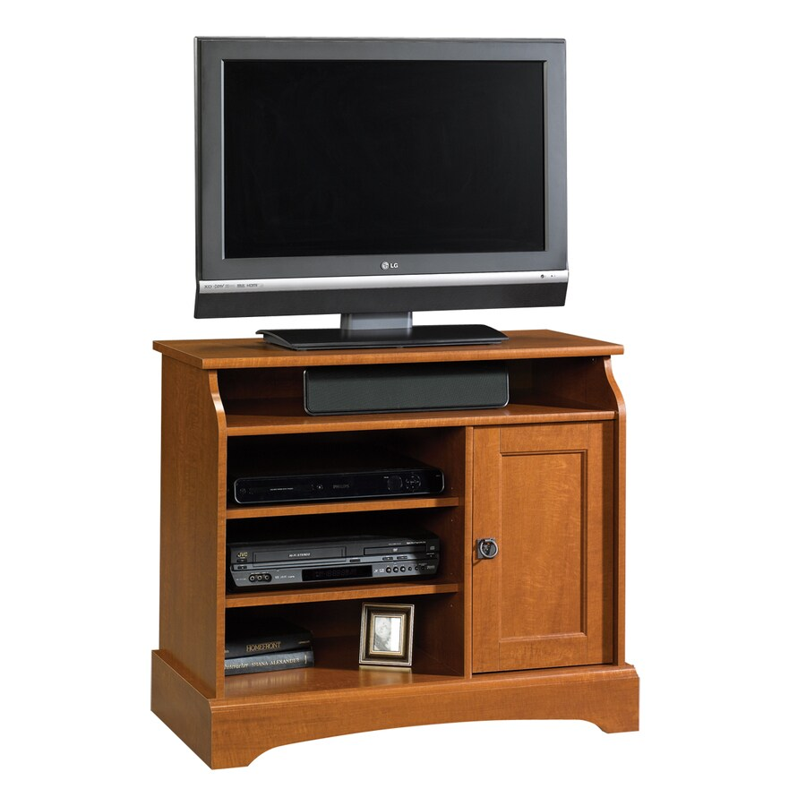 Sauder Graham Hill Autumn Maple Pedestal TV Stand