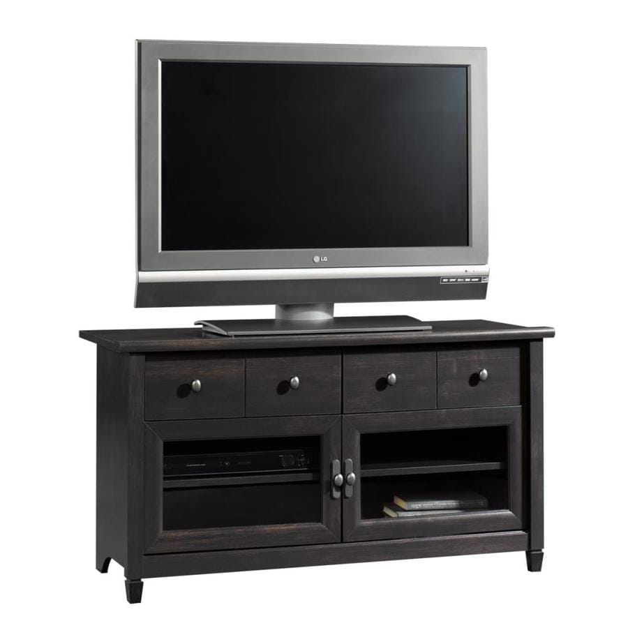 Sauder Edge Water Estate Black Rectangular Pedestal Television Stand