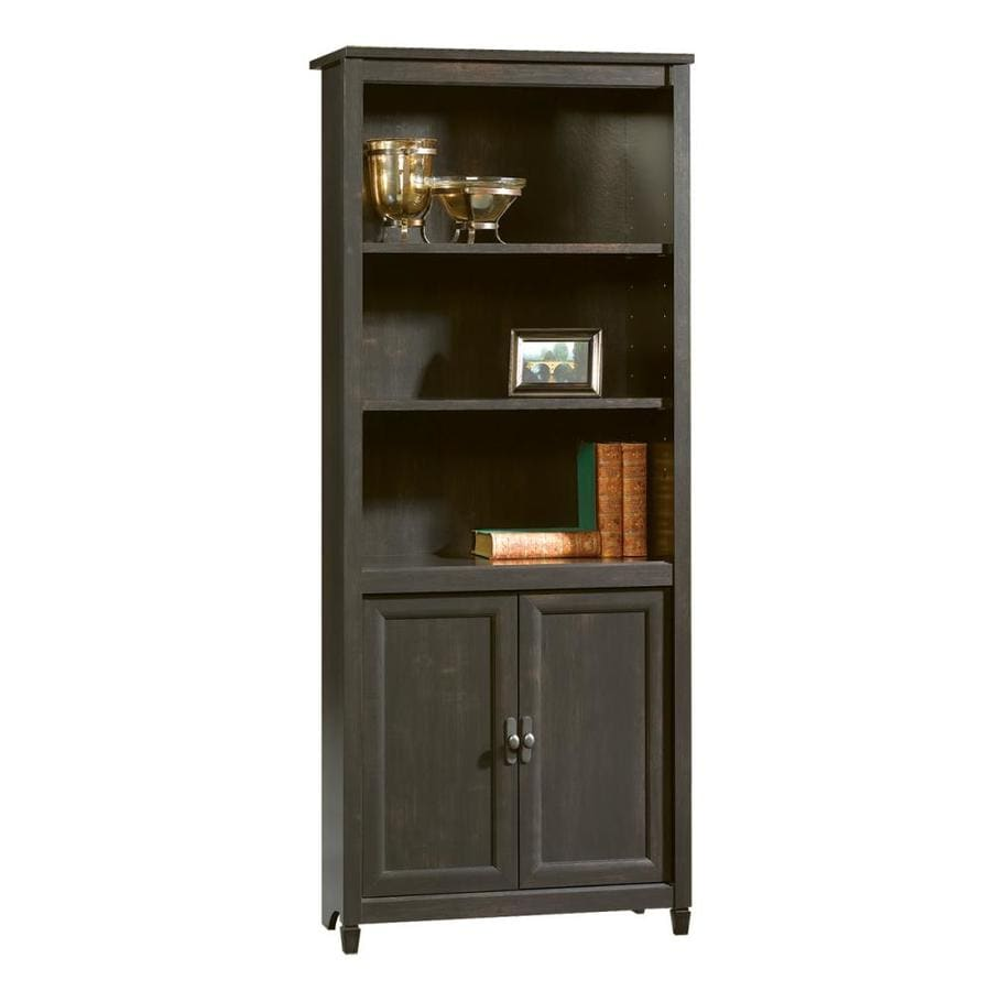 Sauder Edge Water Estate Black 5 Shelf Bookcase